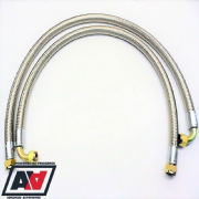 Mocal Oil Cooler 55 inch Braided Oil Lines 1/2 BSP Threads Factory Fitted Ends